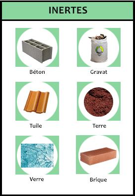 types de déchets inertes du btp