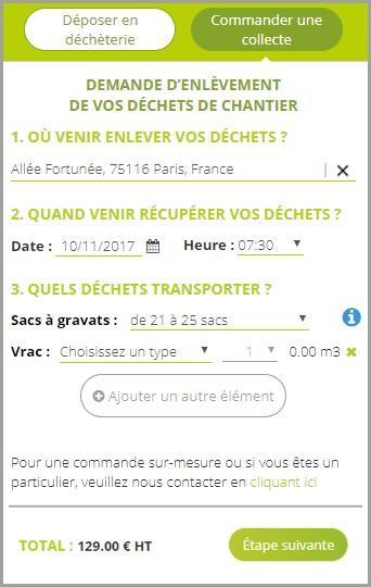 interface collecte en ligne ecodrop