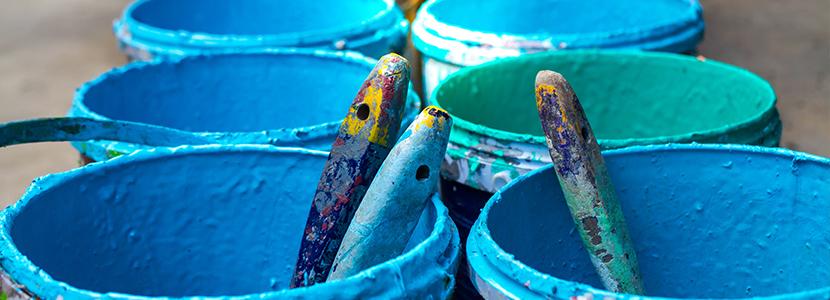 collecte pots de peinture