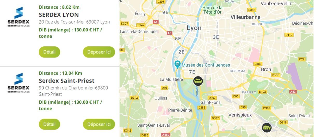 Déchetteries professionnelles à Lyon