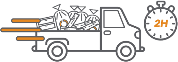 collecte en camionnette